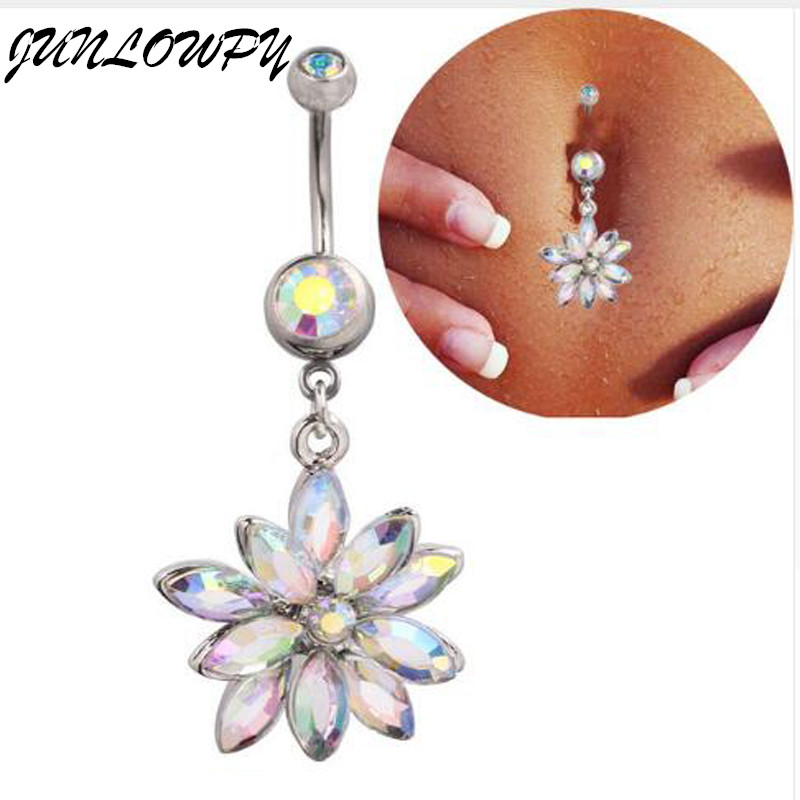 Buy high quality medical steel crystal for Belly button jewelry store