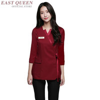 South korea clothing Spa massage beautician uniform beauty salon waitress beautiful clinical uniforms woman DD1354