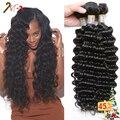 Unice Peruvian Virgin Hair Deep Wave 4 Pcs Lot Grade 7A Peruvian Deep Curly Hair Tissage Bresilienne Deep Wave Hair Extensions