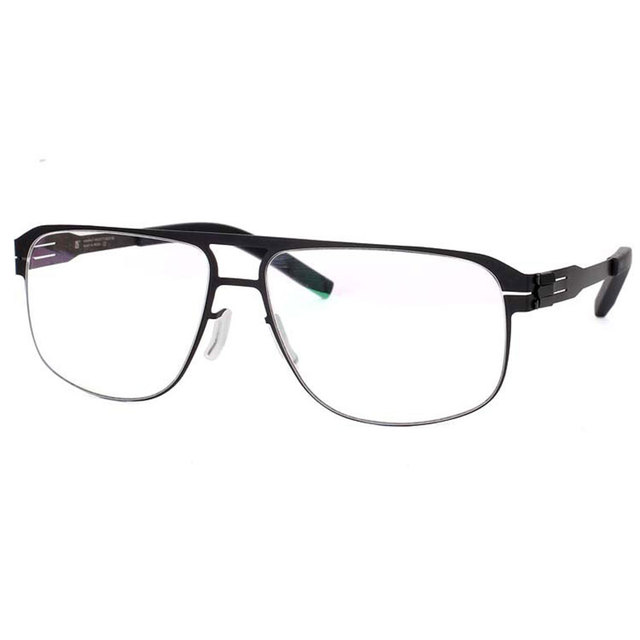09f257974d54 US $23.99 60% OFF|Spectacles Unique No screw Design Brand Frame for Male  Optical Eyeglasses Spectacles Prescription Big Size Eyewear-in Eyewear  Frames ...