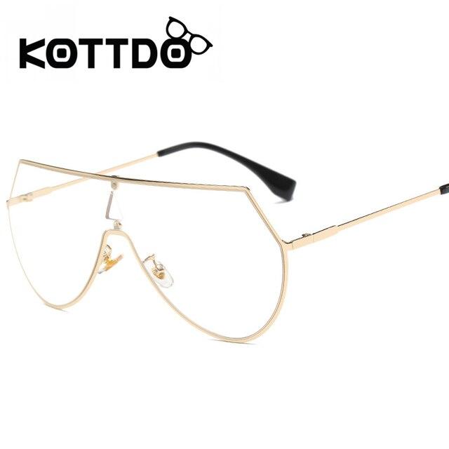 0fe12b07db0700 Kottdo 2017 nieuwe klassieke vrouwen metalen frame bril populaire goud kleur  merk designer cat eye blauw