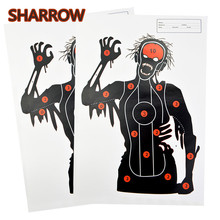 12/24Pcs 45*32cm Archery Target Paper Gun Pistol Game Practice Targeting Darts Outdoor Training Shooting Accessories