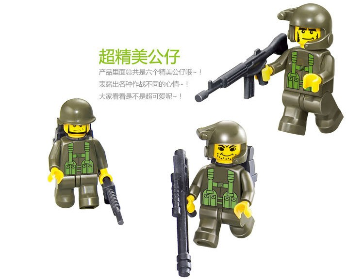 Sluban-576pcs-Army-troops-Educational-Toys-Tank-Jeep-Radar-6-Soldiers-vehicle-Bricks-Building-Block-Toys (3)