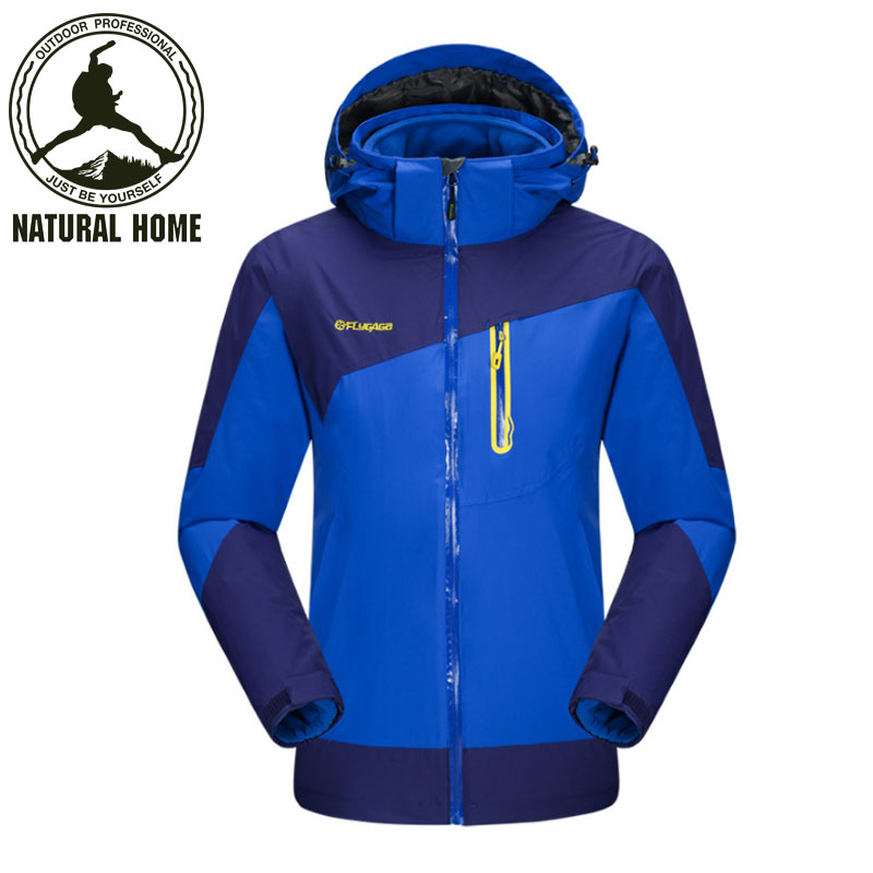 ФОТО NaturalHome 3 in 1 Outdoor Jacket Men Women Waterproof Jacket Windproof Hiking Jackets for Camping Rain Hoodies