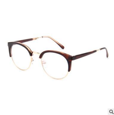a8de52d5d93f Fashion Cat Eye Clear Glasses With Clear Lens Metal Half Frame Optical Eye  Glasses Frames Women Spectacles Men Eyewear Oculos-in Men's Eyewear Frames  from ...