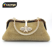 Fashion Elegant Luxury Bridesmaid Tote Day Clutch Handbag Ladies Diamond Crystals Shoulder Bag Dinner Party Wedding Evening Bag