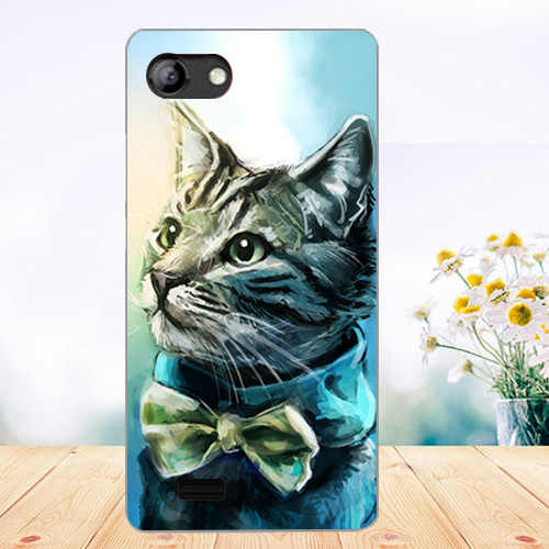 Cubierta de teléfono de TPU suave para Vertex Impress Luck Cases silicona pintada Lobo Rose Cat Fundas transparente para vertex impress luck Back Cover
