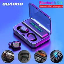 Cbaooo F3 Bluetooth Earphone Tws 5.0V Tahan Air HD Stereo Nirkabel Earbud Kebisingan Membatalkan Headset Gaming LED Power Tampilan(China)