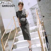 GRRCOSY Schwangerschaft Lange Kleider Mutterschaft Kleidung Kleidung Mutterschaft Mode Party Kleider Abendkleid frauen Kleid