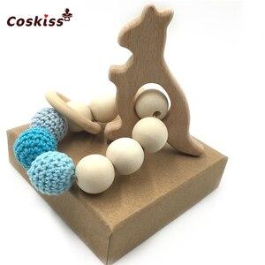 Image 3 - DIY zestaw do pielęgnacji biżuterii zestaw do mieszania naturalnych okrągłych geometrii sześciokątne drewniane koraliki zestaw gryzaki dla niemowląt