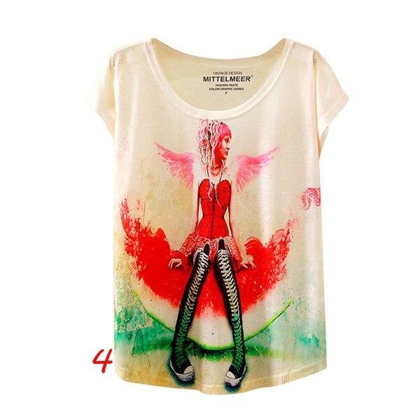 HTB1kt6gNFXXXXa4apXXq6xXFXXXy - Fashion Summer Animal Cat Print Shirt O-Neck Short Sleeve