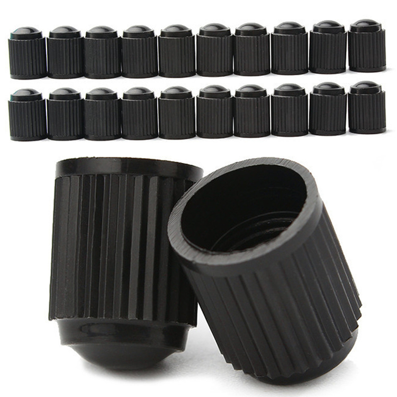 100pcs Spare Black Plastic Motorcyle Bicycle Tyre Stem Inflator Valve Adapter Brass Air Chuck Pump Inflator Presta #FS#4JN06