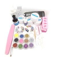 New 9W UV Dryer Lamp Glitter Acrylic Powder False Nail Art Tips Gel Tools DIY Salon UV Gel Set Kit