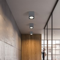 Outdoor LED Ceiling Light Surface Mounted Lighting Square Led For Bathroom Balcony Stair Way Grey Fitting