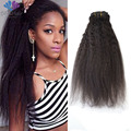 HOT Kinky Straight Clip In Hair Extensions Unprocessed Brazilian Hair Clip In Extensions 7Pcs/Lot Clip In Human Hair Extensions