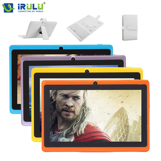 Original iRULU eXpro X1 7″ Tablet PC Android 4.4 8GB ROM Quad Core Dual Camera 1024*600 support Wifi Multi Colors Hot Cheaper