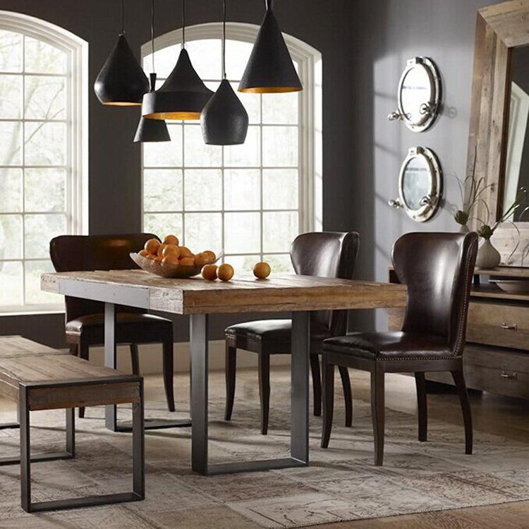 retro americana rstica de hierro forjado muebles de madera maciza combinacin de comedor mesa de comedor