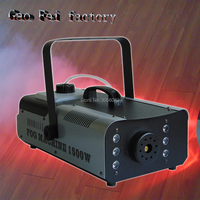 1500W RGB Wireless Remote control fog machine dj disco smoke machine for party wedding Christmas stage LED fogger