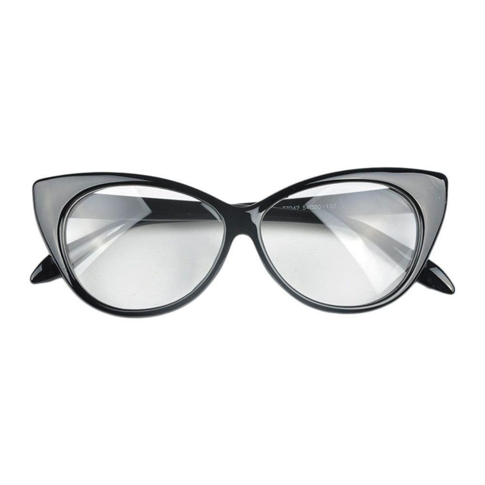 Nuevo 2017 ojo estilo leopardo ojo Gafas Marcos marca mujeres Plain ...