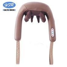 Home Car U Shape Electrical Shiatsu Back Neck Shoulder Body Massager Infrared Heated Kneading Car/Home Massagem все цены