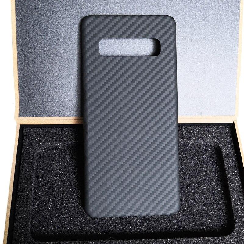 2019 Super voiture de sport Ultra-léger mat 100% vraie couverture en Fiber de carbone pour Samsung Galaxy S10 Plus coque de téléphone pour S10 étui en carbone