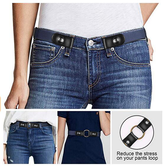 Stretch No Buckle/Show Invisible Belt For Jeans Pants  3