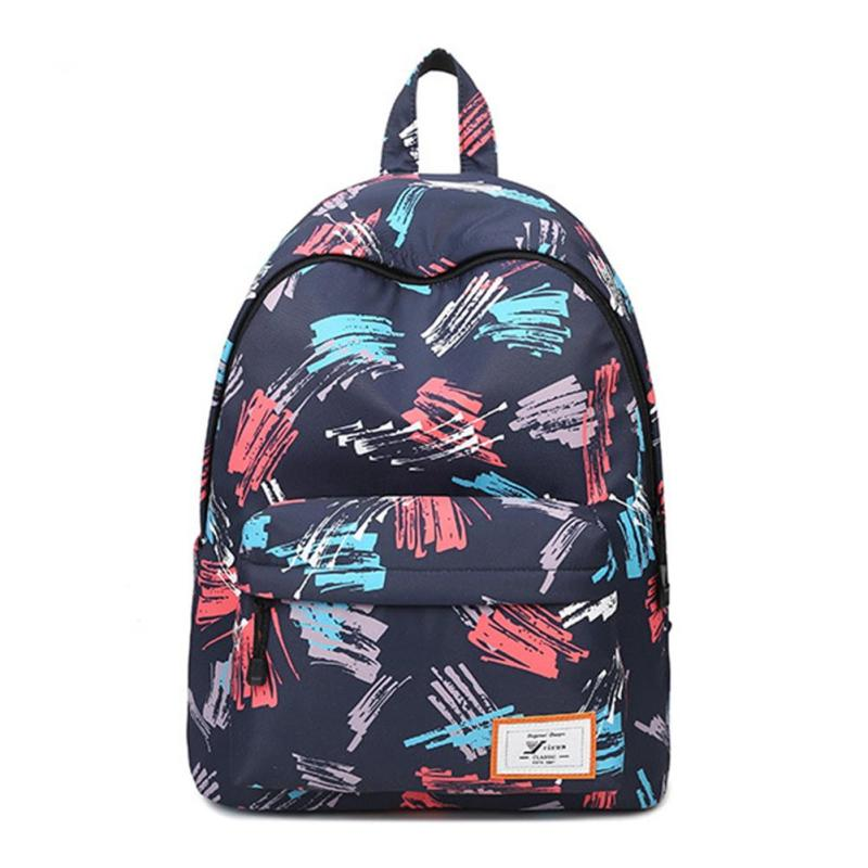 Fashion Brand Printing Backpack Women Floral Book bags Waterproof Canvas Backpack Schoolbag for Girls Rucksack Casual