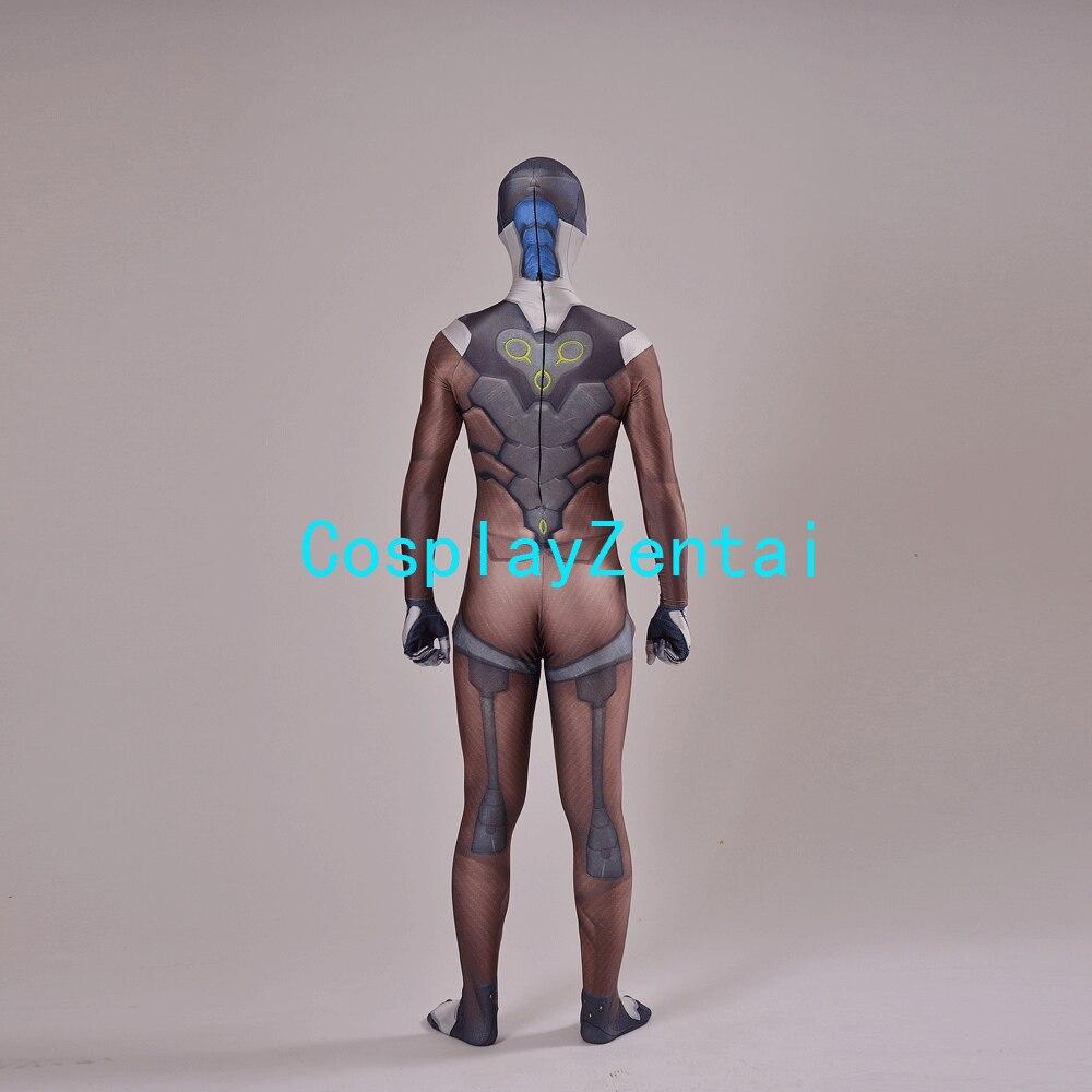 Gra Genji Cosplay Costume 3D Print Elastan Genji Zentai dla - Kostiumy - Zdjęcie 5