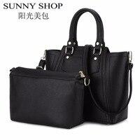 SUNNY SHOP Famous Brand Luxury Handbags Women Bags Designer Handbags High Quality Women Leather Handbags Fashion