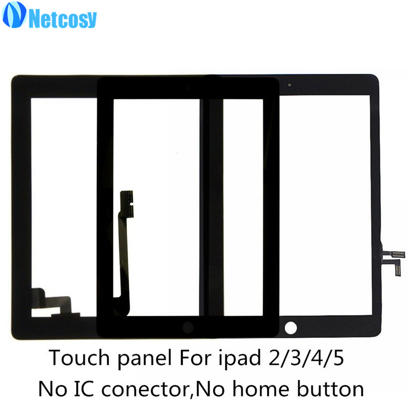 все цены на Netcosy For ipad 2 3 4 5 Touch screen digitizer glass panel repair for ipad 2 / 3 / 4 / 5 Tablet touch panel онлайн