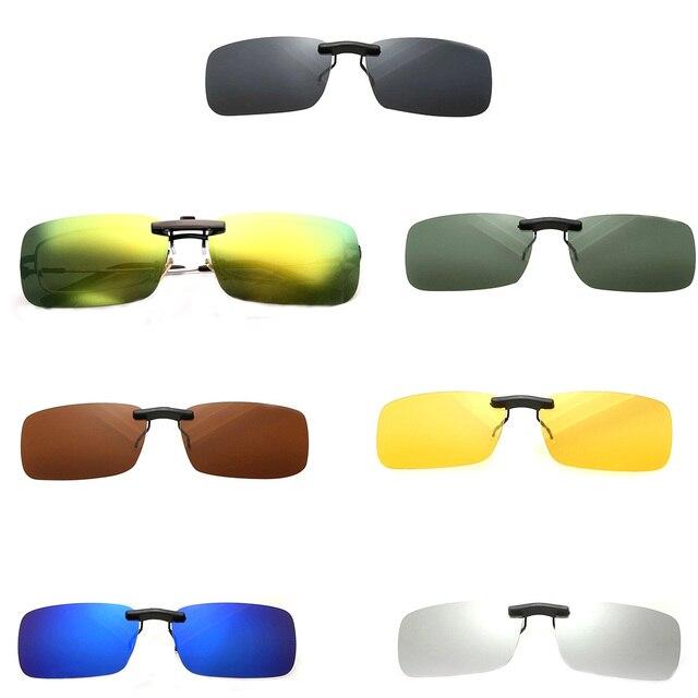86445db682 Gafas de sol polarizadas Unisex con Clip de visión nocturna de conducción  miope Lentes Anti-