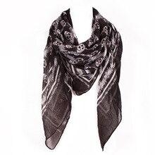 Цена в евро череп инопланетянин дизайн многофункциональный шарф женский шейный мусульманский платок и шарфы размер 140*130 см