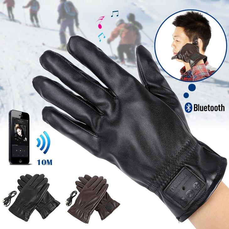 Fashion Winter Unisex Women  Man Warm Gloves Bluetooth Button Phone MenTouchscreen Gloves Mitten