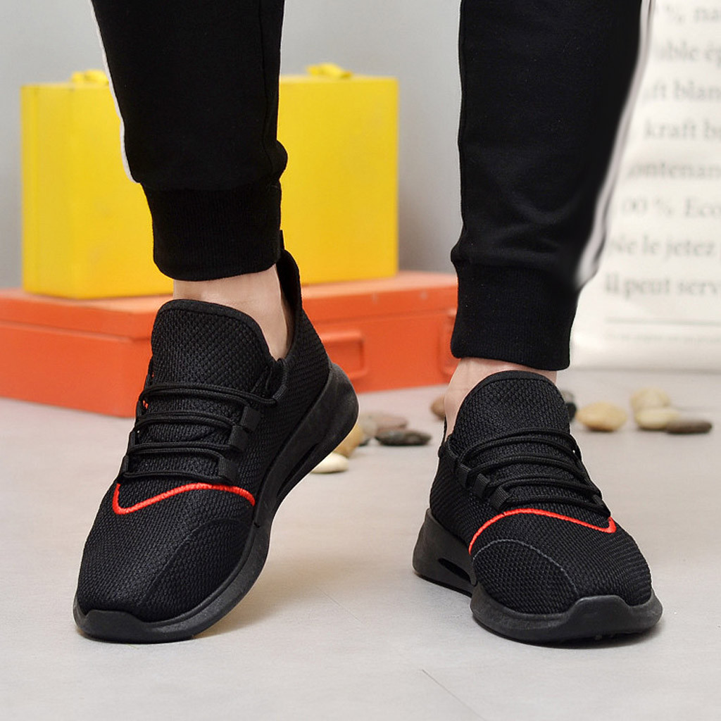 SHUJIN 2019 New Casual Shoes Men Breathable Patchwork Summer Mesh Shoes Sneakers Fashionable Breathable Strap Movement Shoes