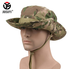 ac9b6a0c3bea6 Multicam Tactical Airsoft Sniper Camouflage Bucket Boonie Hats Nepalese Cap  SWAT Army American Military Accessories Summer