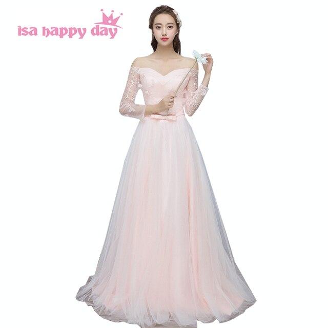 Schöne rosa bridemaids schulterfrei lange korsett brautjungfern ...