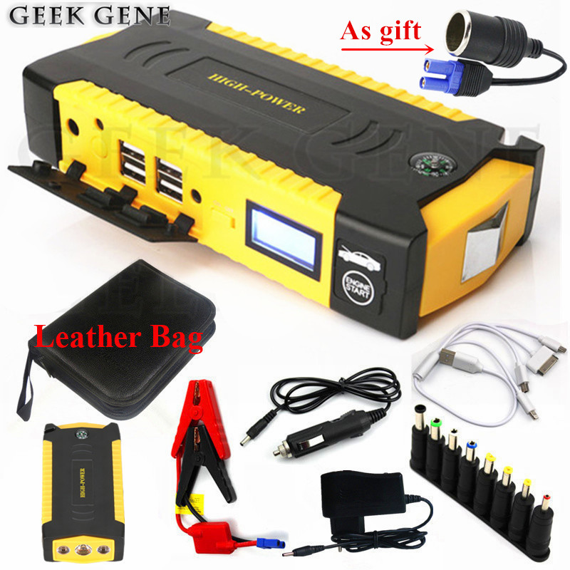 High Capacity 16000mAh Starting Device Booster 600A 12V Portable Car Jump Starter Power Bank Car Starter For Car Battery Charger