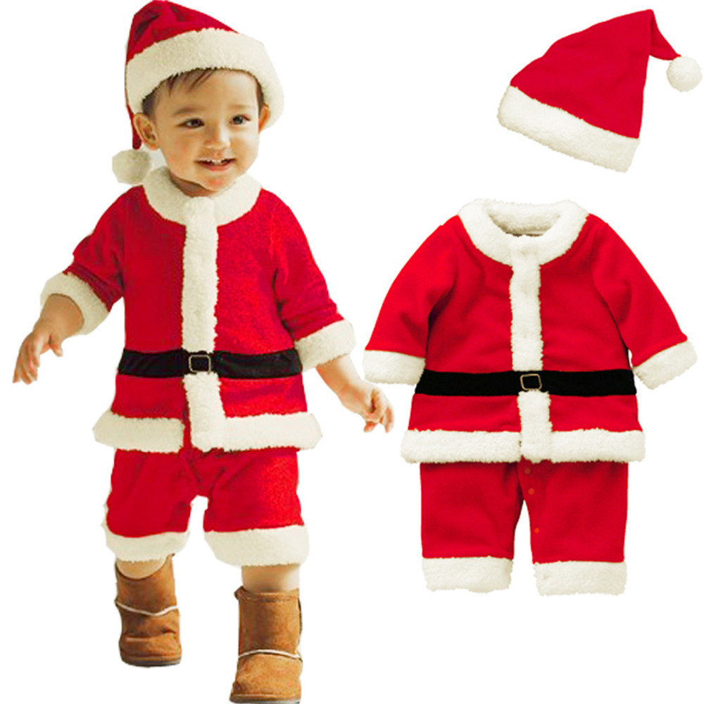 Baby Boys Romper Toddlers Christmas Gifts Winter Hat Bow ...