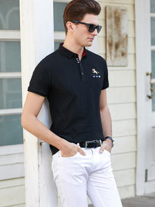 Hollirtiger Men Cotton Short Sleeve shirt polo Size