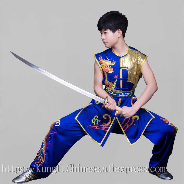中国カンフー服武術制服武道スーツ taolu 衣装 nanquan ボクシングデモ男性女性少年少女のキッズ子供