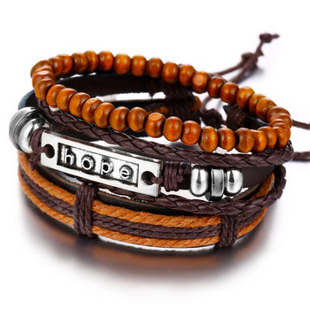 Vintage Multilayer Leather Bracelet for Men Bracelets Jewelry Men Jewelry New Arrivals Metal Color: FDY1812