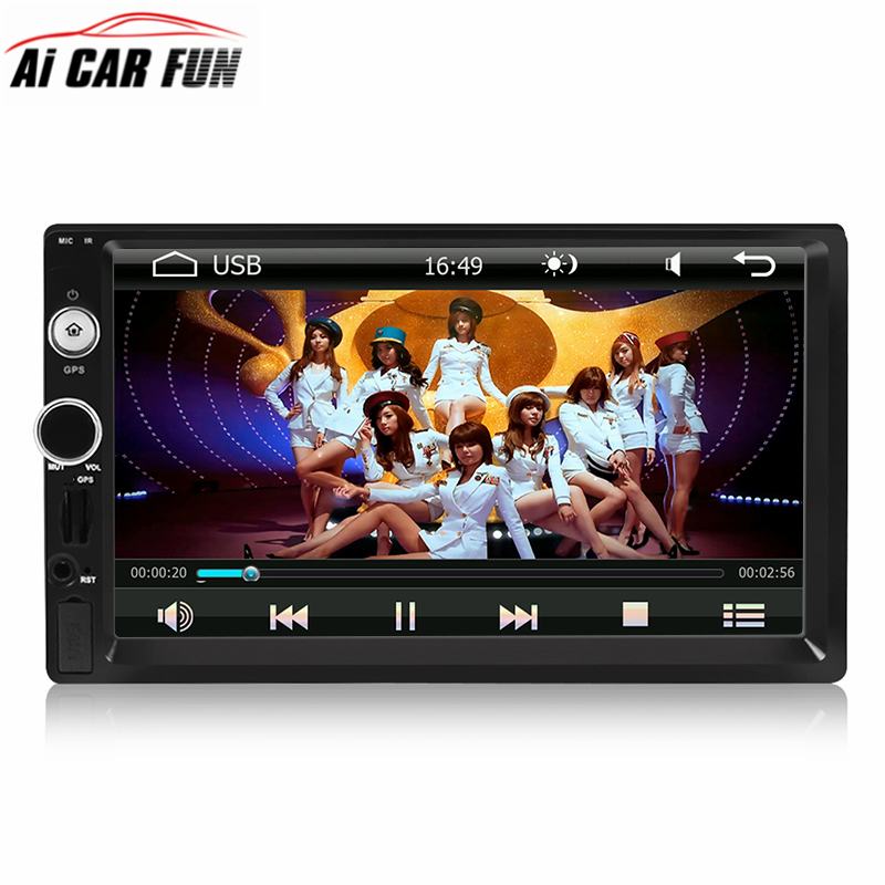 LN-5002 7 Universal 2 Din HD Capacitance Touchscreen Car Stereo Radio Player GPS Navigation BT AM/FM/RDS Mirror Link Europe map 7 hd 2din car stereo bluetooth mp5 player gps navigation support tf usb aux fm radio rearview camera fm radio usb tf aux