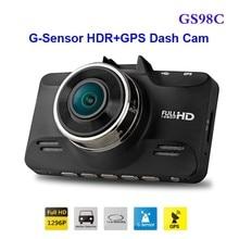 Envío Libre!! Original GS98C LA70 Coche DVR de Ambarella A7 Full HD Grabador de Vídeo 2304*1296 P 30FPS con G-sensor HDR + GPS Dash Cam