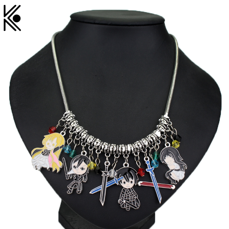 DIY Anime Pokemon GO Cartoon Glaze Crystal Beads Pendant Alloy Necklace Christmas Gifts For Woman Game Jewelry Free Shipping