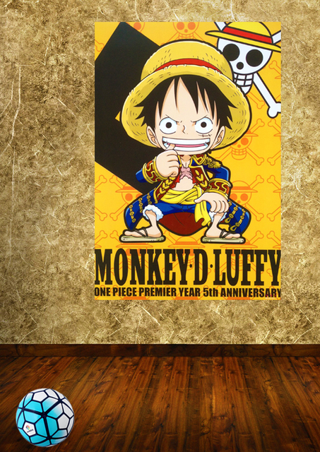 Jepang Anime One Piece Gratis Pengiriman Wallpaper Poster A3 Kertas Hd Dekorasi Kamar Stiker