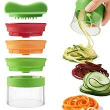 3 En 1 Multifunción Silicer 3 Hoja Peeler de la Fruta Curl Slicer Spiralizer Vegetal máquina de Cortar Espiral
