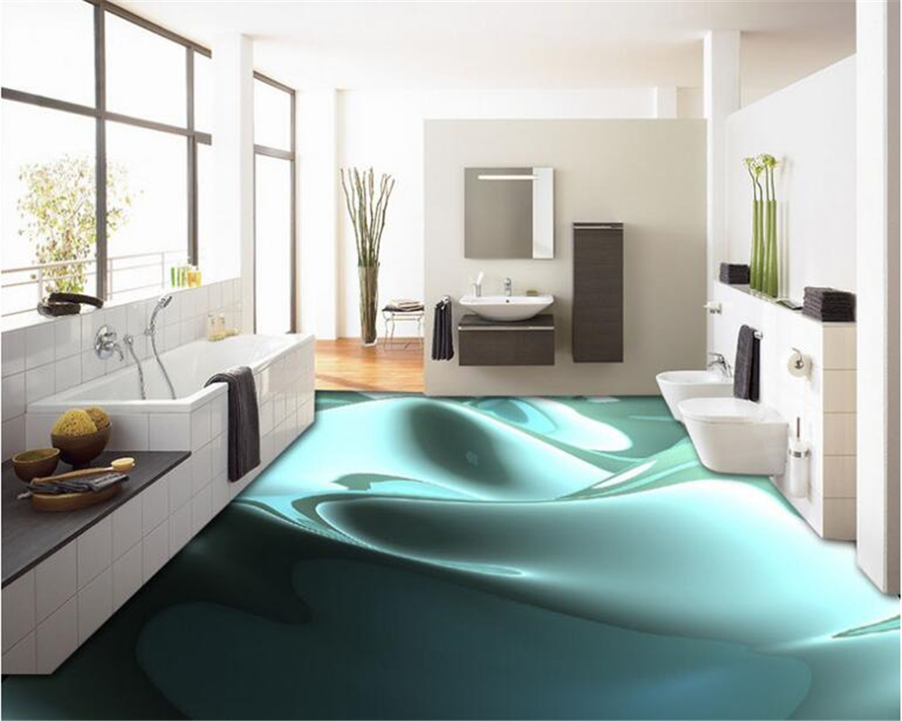 beibehang Creative fountain fashion flowing liquid background image 3d flooring three-dimensional painting papel de parede
