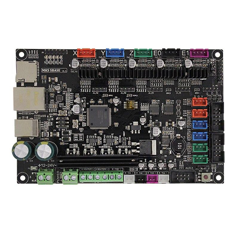 MKS SBASE V1.3 3D tableau de contrôle d'imprimante, 32bit Bras Plate-Forme Lisse Open Source MCU-LPC1768, compatible avec Smoothieware