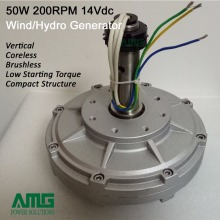 50w 200rpm 14VDC wind turbine permanent magnet alternator coreless generator motor