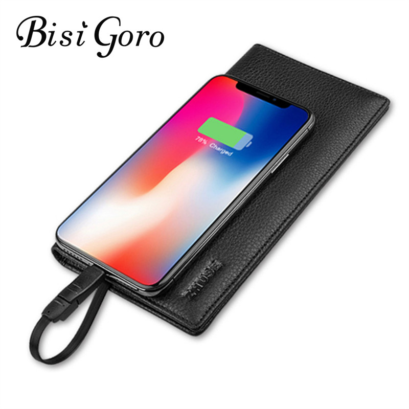 BISI GORO 2019 Unisex Smart Wallet Phone With USB for Long Charging Wallet Adapt For Ipone And Android Capacity 8000 mAh Travel